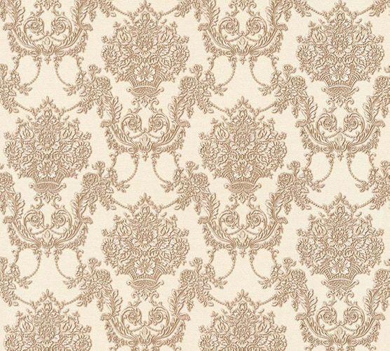 Tapete Vlies Ornament weiß braun Glanz AS Creation 34492-5 online kaufen