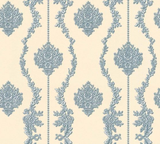 Tapete Vlies Barock beige blau Glanz AS Creation 34493-6