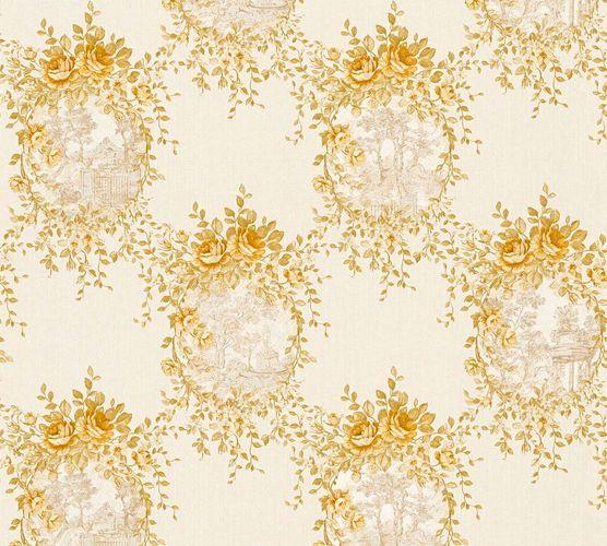 Tapete Vlies Landhaus weiß gold Glanz AS Creation 34499-3
