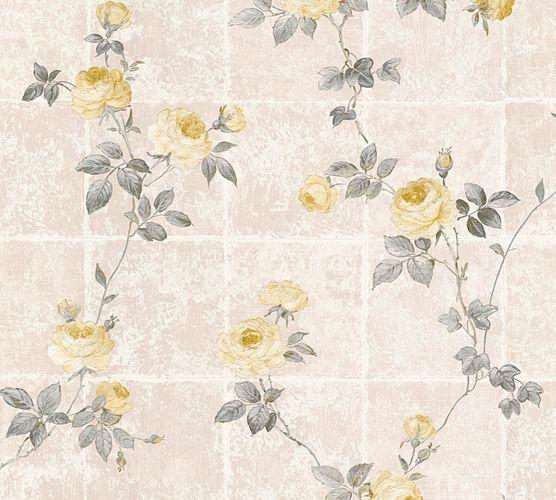 Tapete Vlies Blumen Fliesen grau silber Glanz AS Creation 34501-3 online kaufen