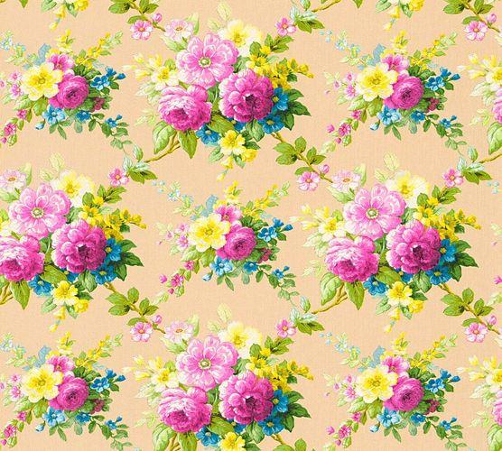 Tapete Vlies Blumen beige bunt Glanz AS Creation 34508-1 online kaufen