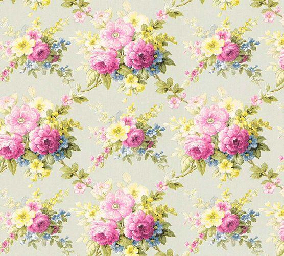 Tapete Vlies Blumen grün bunt Glanz AS Creation 34508-3 online kaufen