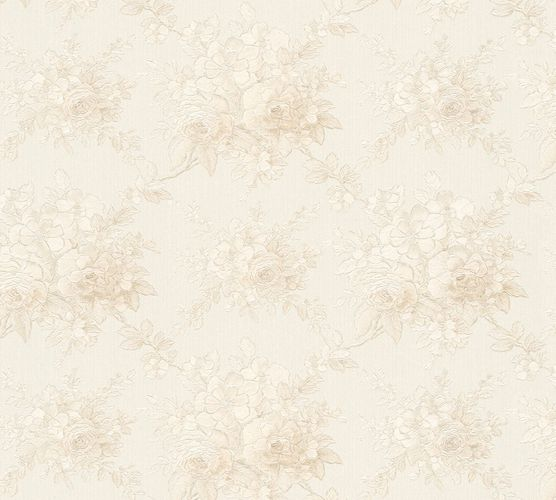 Wallpaper flower white cream gloss AS Creation 34508-5 online kaufen