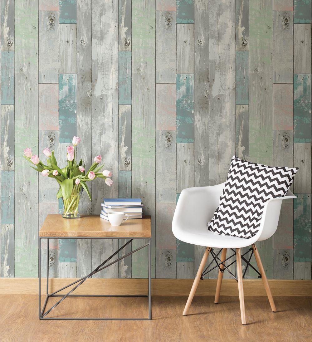 tapete vlies rasch textil vintage holz grau gr n 020416. Black Bedroom Furniture Sets. Home Design Ideas