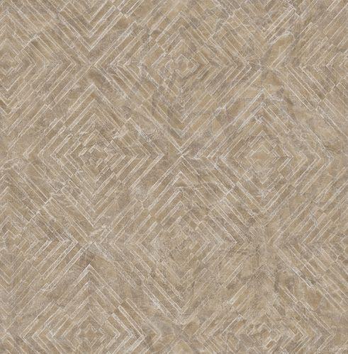 Tapete Vlies Grafisch Viereck braun silber 024002 online kaufen
