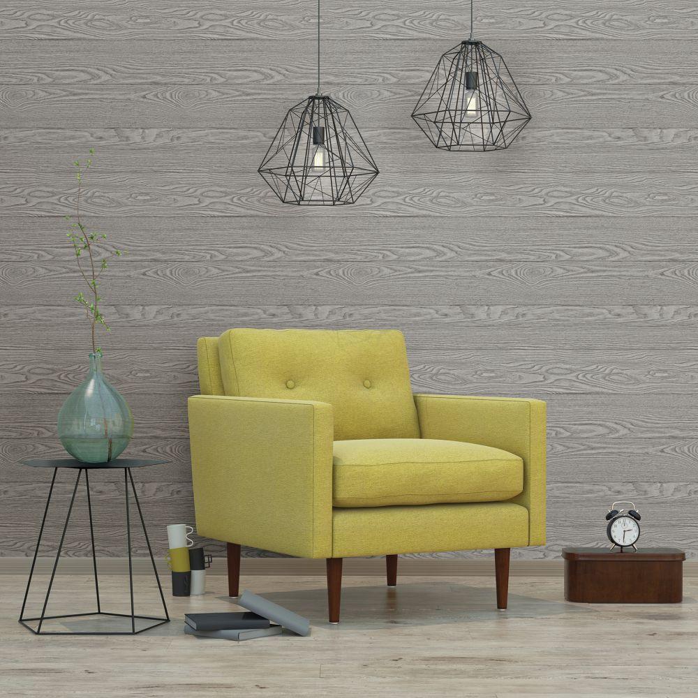 Tapete Vlies Rasch Textil Holz-Optik Grau 024027