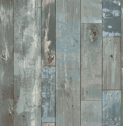 Tapete Vlies World Wide Walls Vintage Holz grau blau 024053 online kaufen