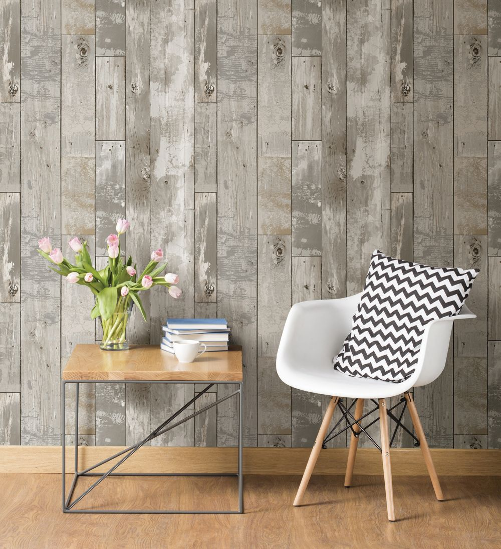 tapete vlies rasch textil vintage holz braungrau 024054. Black Bedroom Furniture Sets. Home Design Ideas