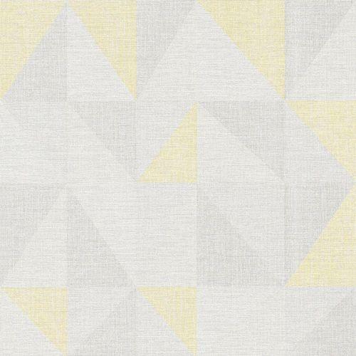 Tapete Vlies Dreieck Grafisch grau gelb AS Creation 35181-1