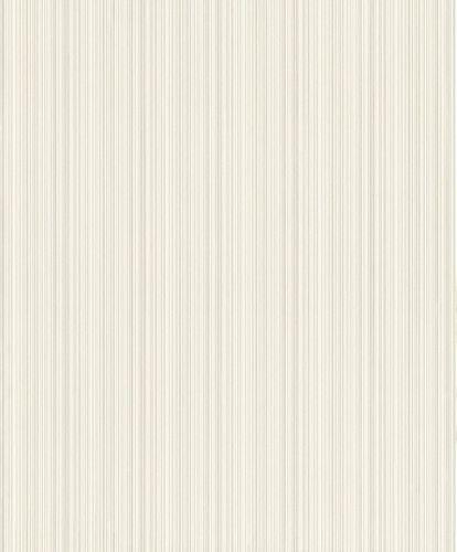 Vlies Tapete Struktur Streifen weiß silber Metallic Rasch 431971