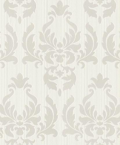 Tapete Vlies Rasch Barock weiß silber Metallic Rasch 433005 online kaufen