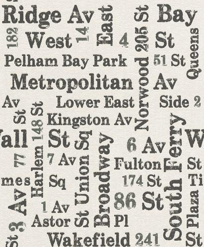 Tapete Vlies Rasch USA Straßen Vintage grauweiß Rasch 886702 online kaufen
