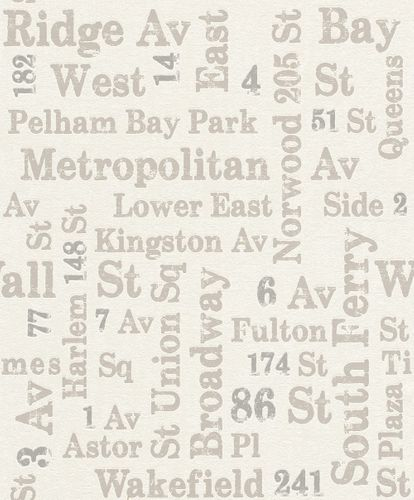 Tapete Vlies Rasch USA Straßen Vintage weißgrau Rasch 886719 online kaufen