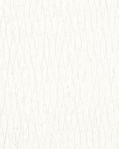 Wallpaper graphic plaid white silver metallic 59326