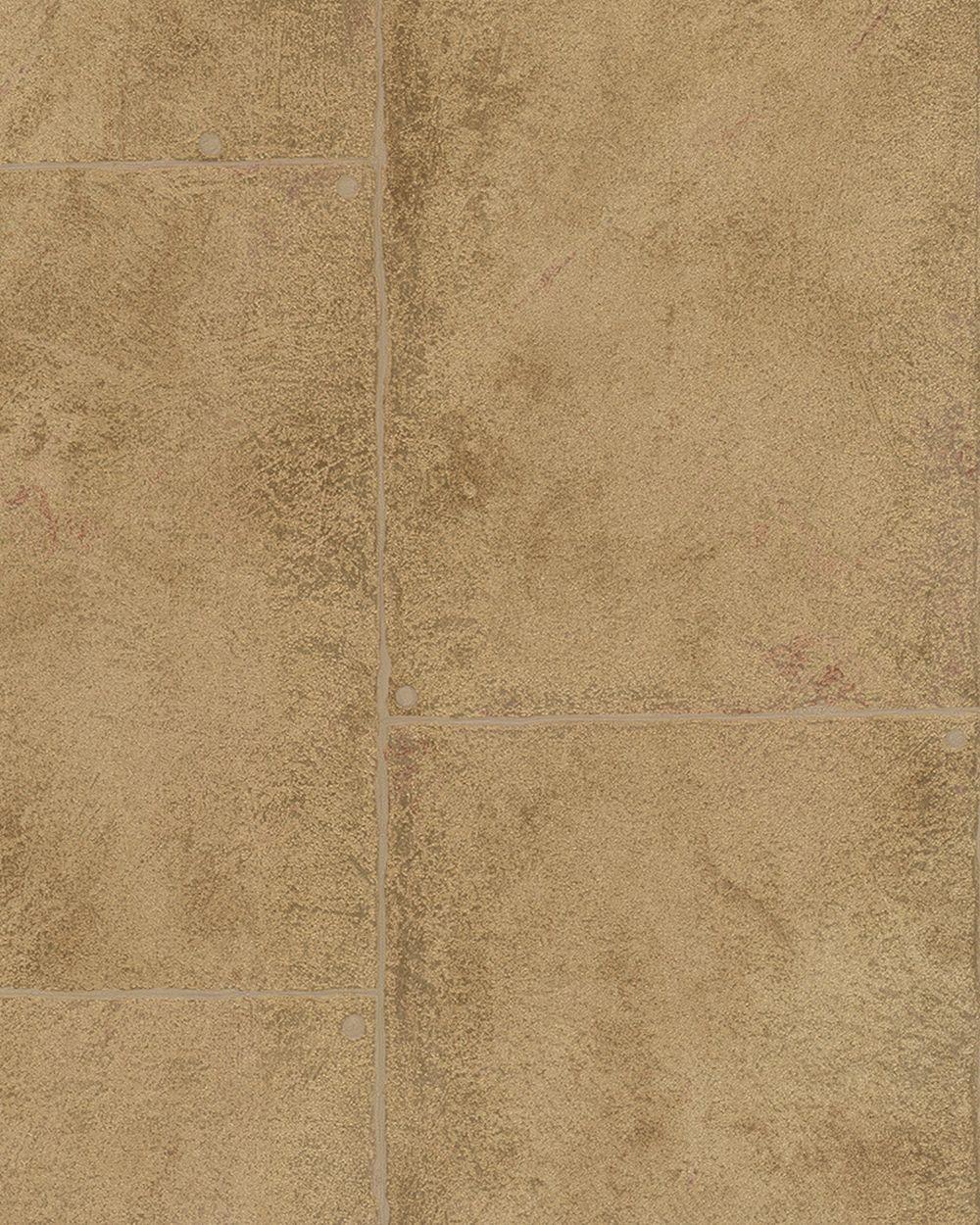 tapete vlies beton-optik gold beige metallic marburg 59333