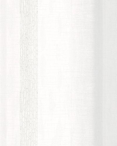 Wallpaper striped design white grey metallic Marburg 59342
