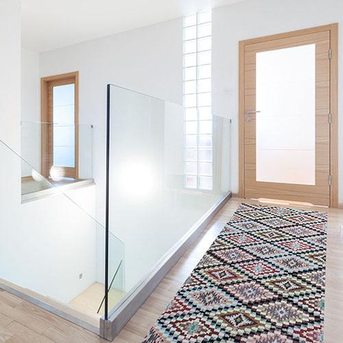 teppichl ufer teppich l ufer wunschma anti rutsch ethno federn. Black Bedroom Furniture Sets. Home Design Ideas