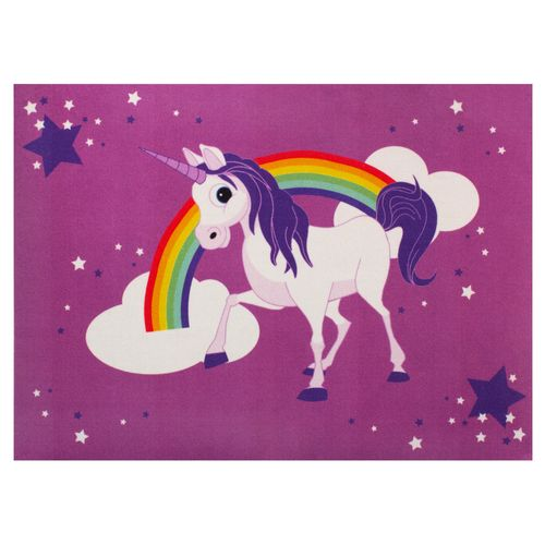 Kids Carpet Unicorn Purple Girls Kids WASHABLE 95x133 cm buy online