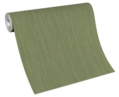 Wallpaper non-woven 6309-36 structured unicoloured green
