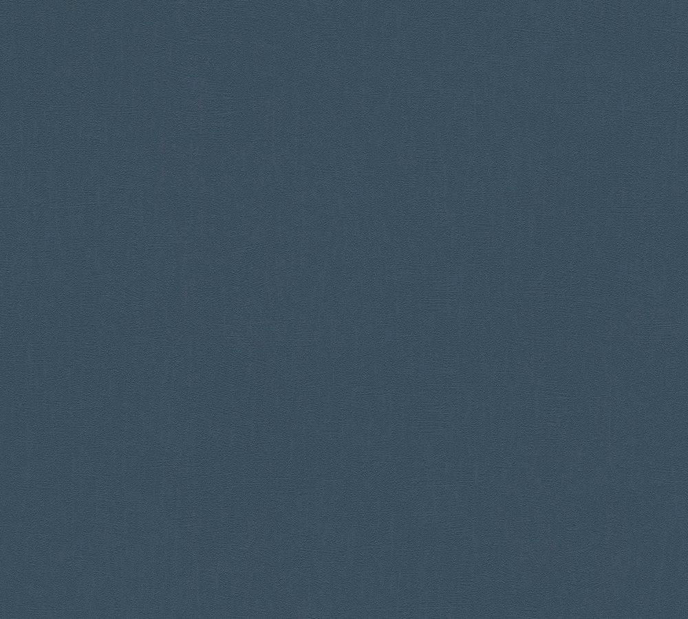 Wandfarben Blau Grau 2: Tapete Vlies Struktur Uni Graublau AS Creation 3462-54