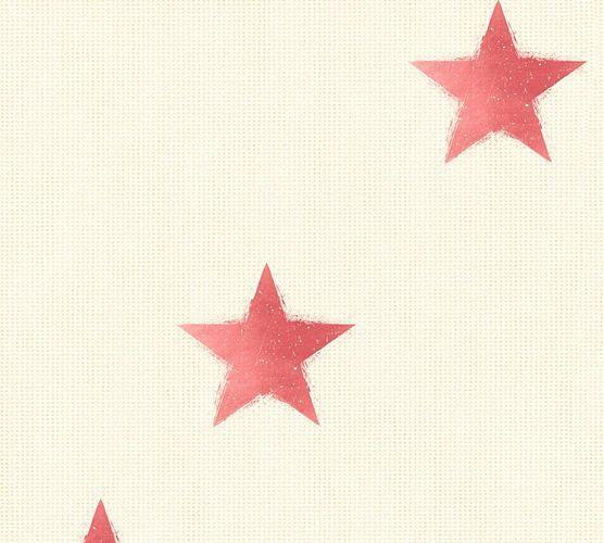 Tapete Vlies Sterne Leinen creme rot livingwalls 35183-5 online kaufen