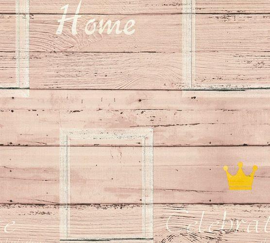 Tapete Vlies Schriftzug Holz beige creme livingwalls 35341-1 online kaufen