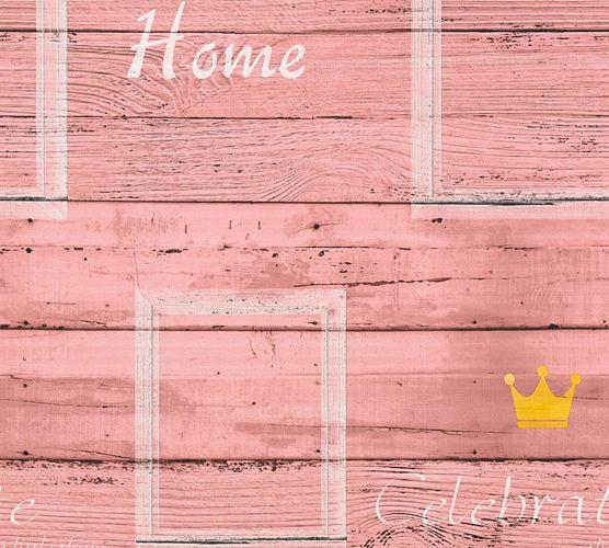 Tapete Vlies Schriftzug Holz rot creme livingwalls 35341-4 online kaufen