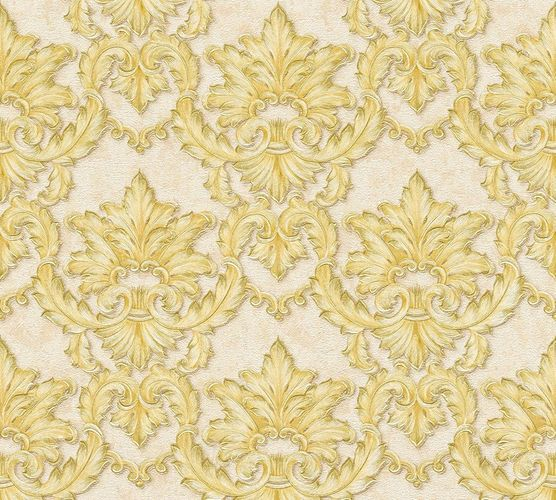Non-woven wallpaper baroque tendrils beige gold AP 34370-1 online kaufen