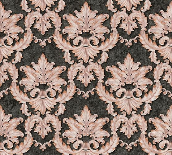 Non-woven wallpaper baroque tendrils anthracite rose AP 34370-2 online kaufen