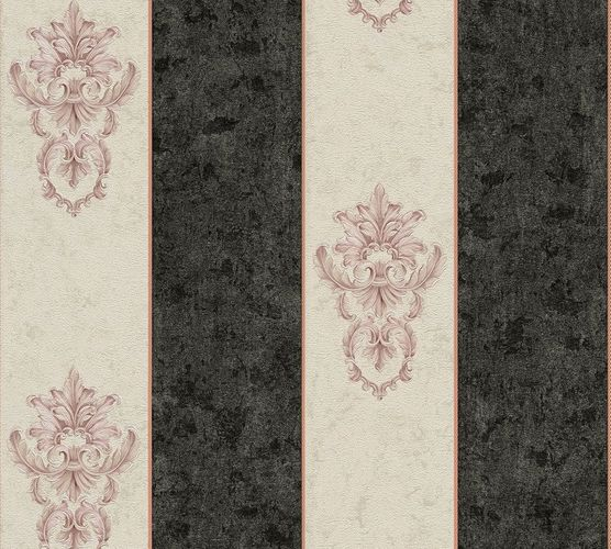 Non-woven wallpaper baroque striped white anthracite AP 34371-2 online kaufen
