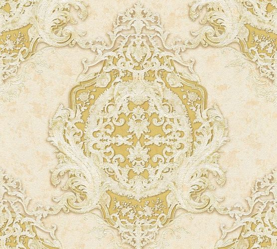 Non-woven wallpaper baroque striped cream gold AP 34372-1 online kaufen
