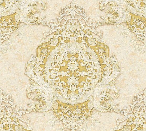 Tapete Vlies Barock Gestreift creme gelbgold AP 34372-1 online kaufen