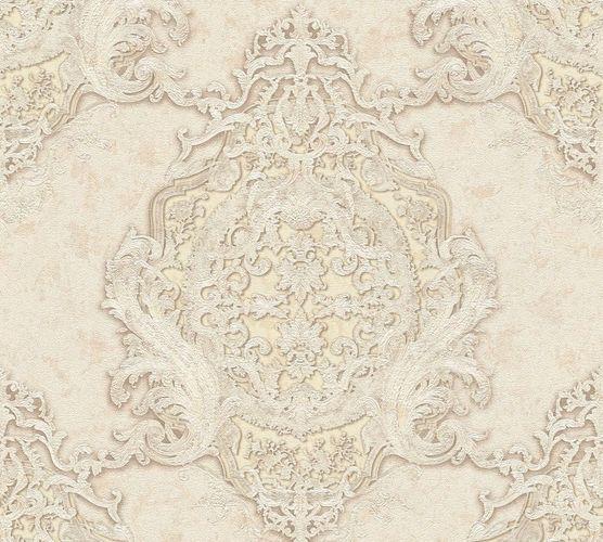 Non-woven wallpaper baroque striped cream cream AP 34372-3