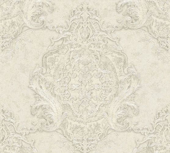 Non-woven wallpaper baroque striped cream AP 34372-6 online kaufen