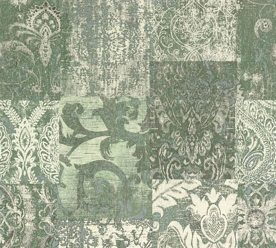 Non-woven wallpaper baroque used green white AP 34374-1 online kaufen
