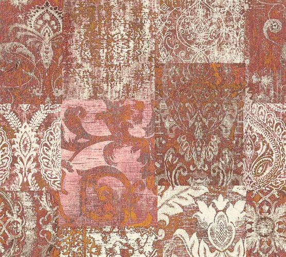 Tapete Vlies Barock Used rot cremeweiß AP 34374-2