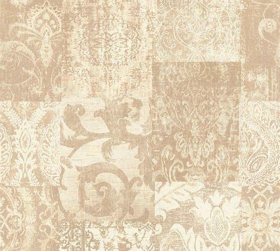 Non-woven wallpaper baroque used beige cream AP 34374-5