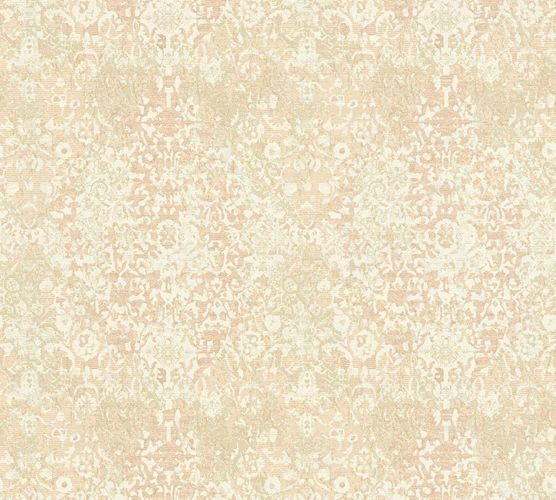Non-woven wallpaper ornament used beige white AP 34375-4 online kaufen