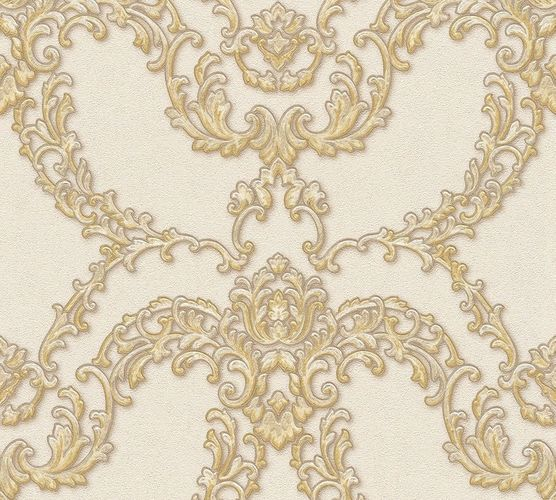 Non-woven wallpaper ornament floral beige gold AP 34777-1 online kaufen
