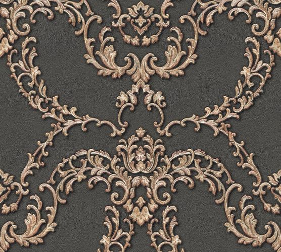 Non-woven wallpaper ornament floral grey gold AP 34777-2 online kaufen