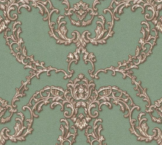 Non-woven wallpaper ornament floral green gold AP 34777-3 online kaufen