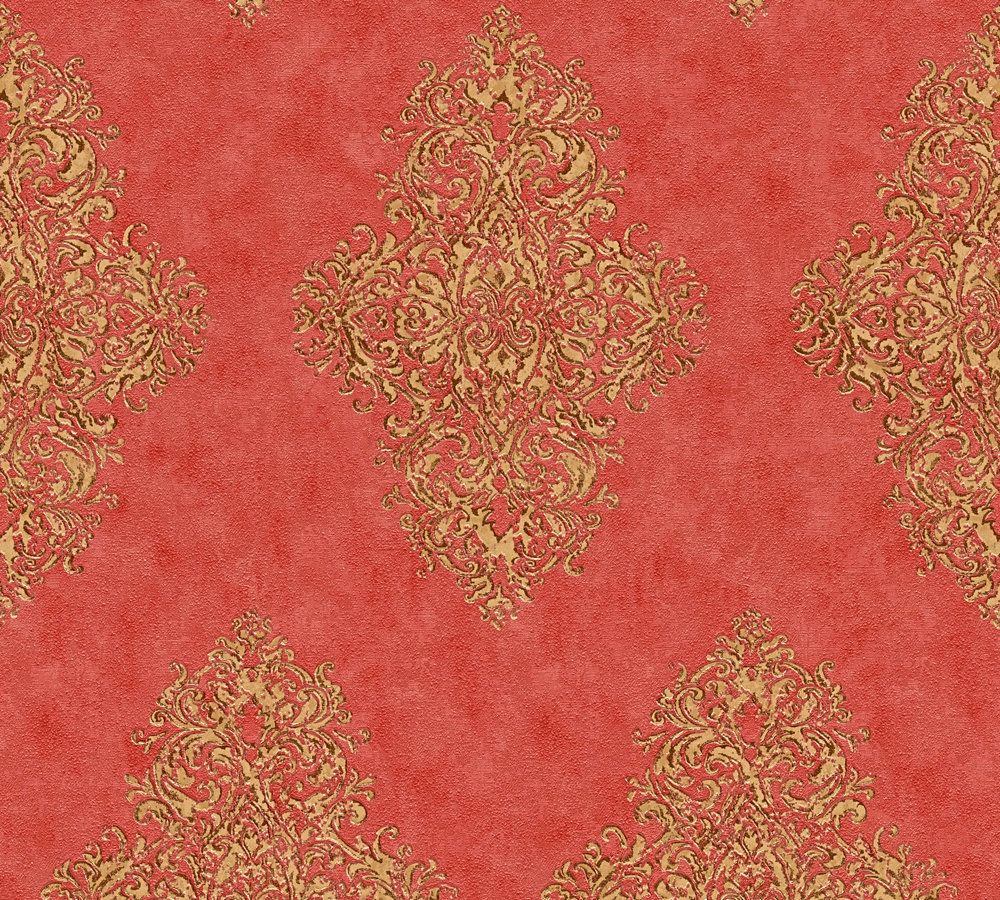 tapete vlies ornamente klassisch rot gold ap 35110 6. Black Bedroom Furniture Sets. Home Design Ideas