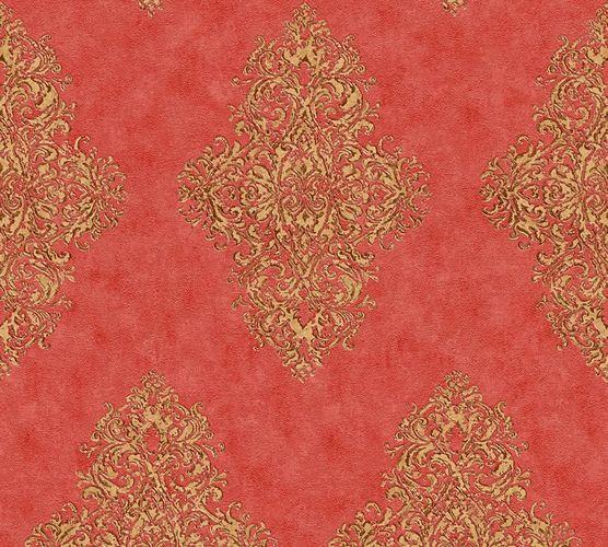 Non-woven wallpaper ornament classic red gold AP 35110-6