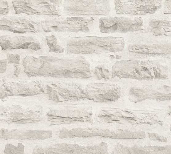Wallpaper stone wall design cream AS Creation 35580-4 buy online