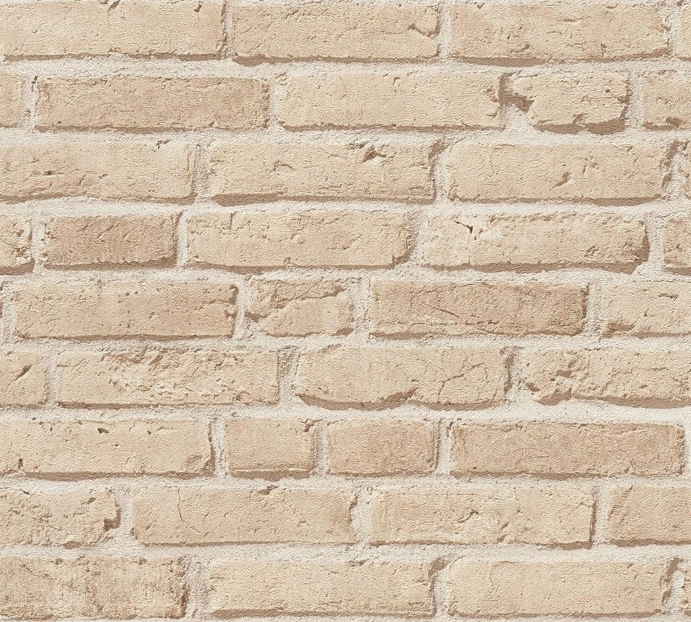 vlies tapete steinoptik ziegelstein beige as creation 35581 2. Black Bedroom Furniture Sets. Home Design Ideas
