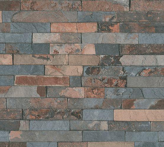 Wallpaper stone wall design used dark brown AS Creation 35582-3 online kaufen