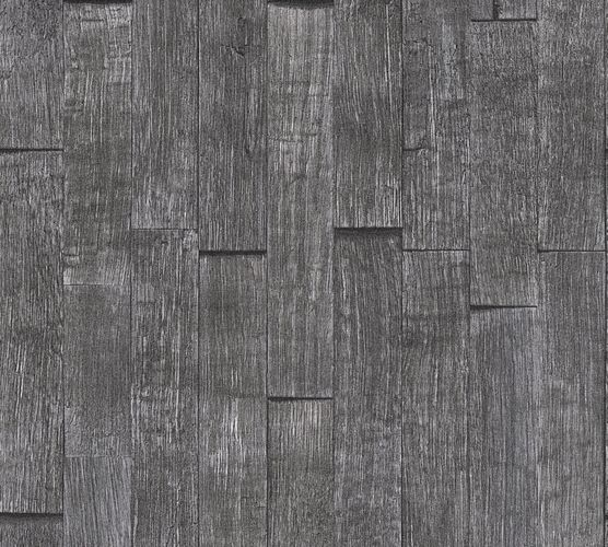 Wallpaper wood board design anthracite AS Creation 35584-1 online kaufen