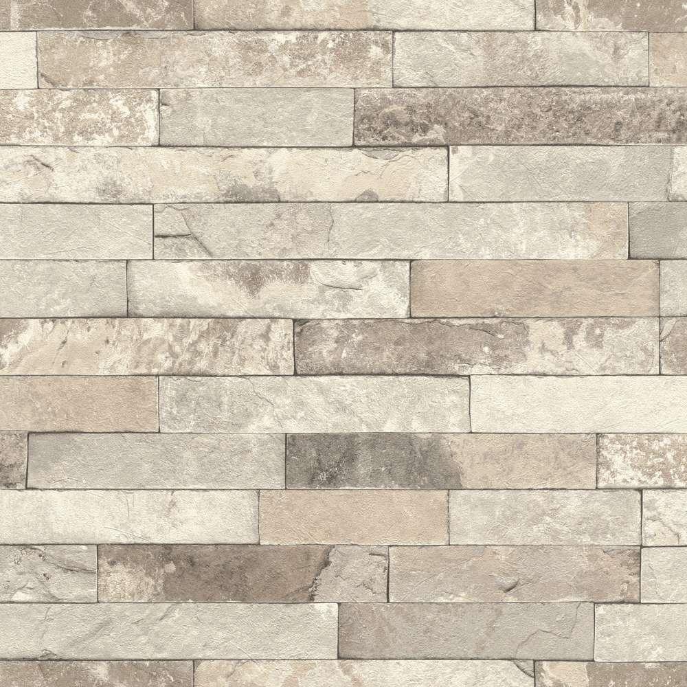tapete vlies stein optik ziegelstein 3d beige rasch 475159. Black Bedroom Furniture Sets. Home Design Ideas