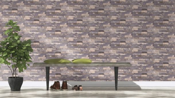 Tapete vlies 3d stein optik ziegelstein grau rasch 475173 for 3d tapete grau