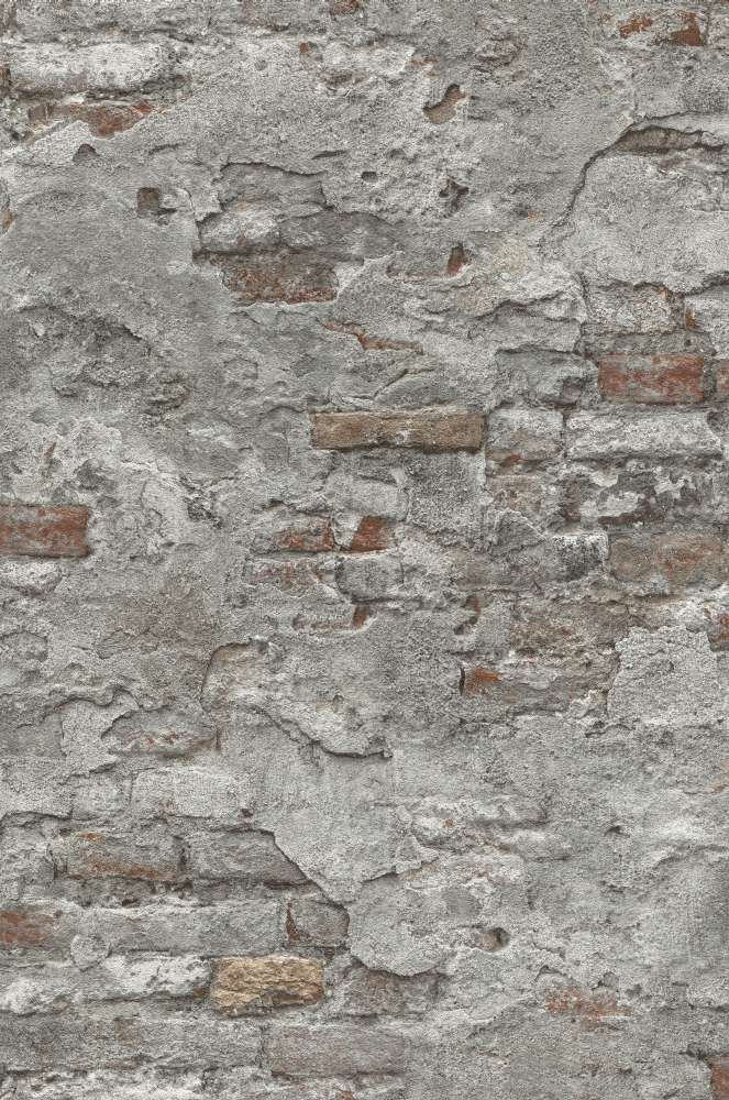 Tapete vlies stein optik naturstein grau rotbraun rasch 939330 for Naturstein tapete